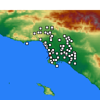 Nearby Forecast Locations - Hermosa Beach - Map