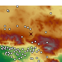 Nearby Forecast Locations - Hesperia - Map
