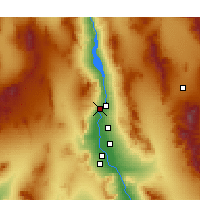 Nearby Forecast Locations - Laughlin - Map