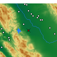 Nearby Forecast Locations - Los Banos - Map