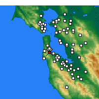 Nearby Forecast Locations - Millbrae - Map