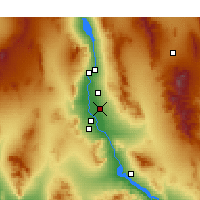 Nearby Forecast Locations - Mohave Valley - Map
