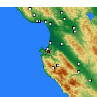 Nearby Forecast Locations - Monterey - Map