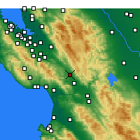 Nearby Forecast Locations - Morgan Hill - Map