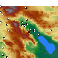Nearby Forecast Locations - Palm Desert - Map