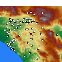 Nearby Forecast Locations - Perris - Map