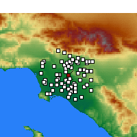 Nearby Forecast Locations - Pico Rivera - Map