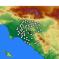 Nearby Forecast Locations - Placentia - Map