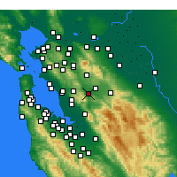 Nearby Forecast Locations - Pleasanton - Map