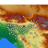Nearby Forecast Locations - Rancho Cucamonga - Map