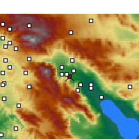 Nearby Forecast Locations - Rancho Mirage - Map