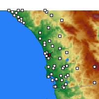 Nearby Forecast Locations - Rancho Santa Fe - Map
