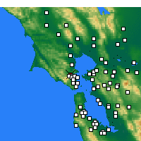 Nearby Forecast Locations - San Anselmo - Map