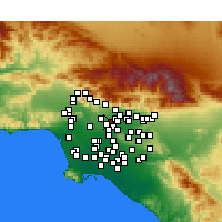 Nearby Forecast Locations - San Gabriel - Map