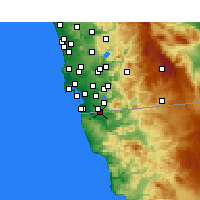 Nearby Forecast Locations - San Ysidro - Map