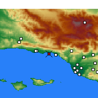 Nearby Forecast Locations - Santa Barbara - Map