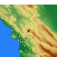 Nearby Forecast Locations - Santa Margarita - Map