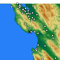 Nearby Forecast Locations - Scotts Valley - Map