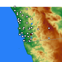 Nearby Forecast Locations - Spring Valley - Map