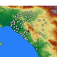 Nearby Forecast Locations - Trabuco Canyon - Map