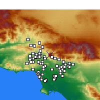 Nearby Forecast Locations - Sunland-Tujunga - Map