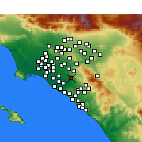 Nearby Forecast Locations - Tustin - Map