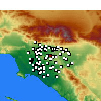 Nearby Forecast Locations - West Covina - Map