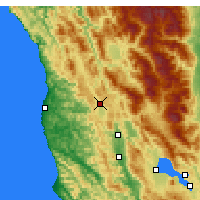 Nearby Forecast Locations - Willits - Map