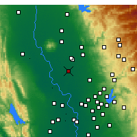 Nearby Forecast Locations - Yuba - Map