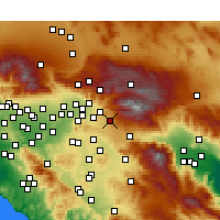 Nearby Forecast Locations - Yucaipa - Map
